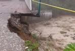 В Цее паводок подмыл мост